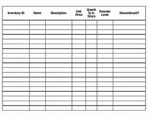 Inventory Control Sheet Templates