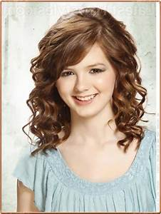 Hairstyles for medium length curly hair with bangs ...