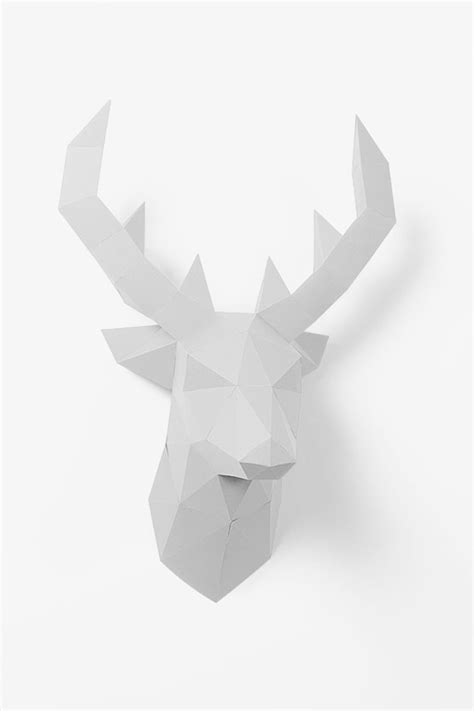 Paper Shape Hirsch by 3d Paper Deer Papershape