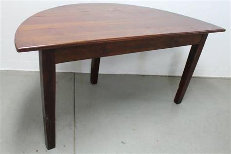 semi circle kitchen table custom made small half circle dining table by