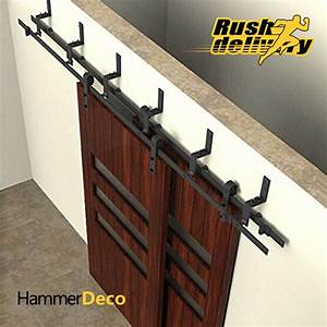 5 to 10ft sliding barn door track top black chungang for 10 ft barn door track