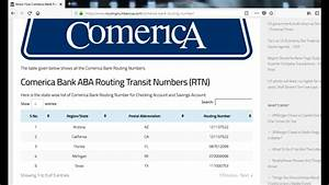 Magnificent Comerica Bank Routing Number Comerica Bank Routing Numbers Get Wiring Database Hyediarchgelartorg