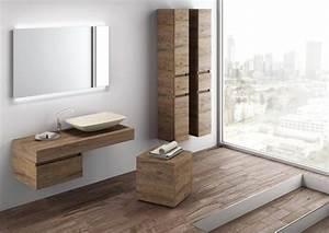 Waschtische Holz Mit Aufsatzwaschbecken : waschtisch waschbecken mit unterschrank holz optik comp ~ Lizthompson.info Haus und Dekorationen