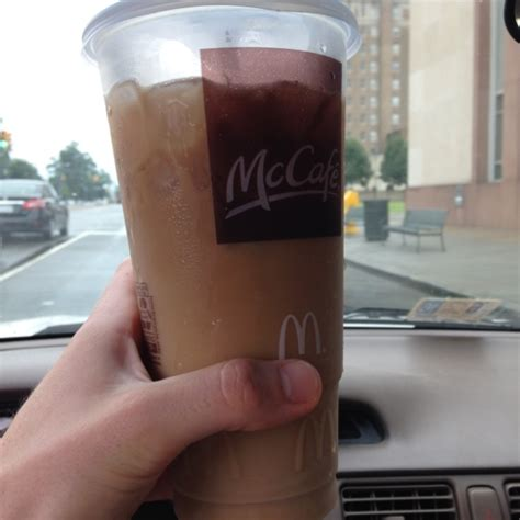 If you prefer mcdonald's signature frappe, blend all of the combine the coffee and sweetened condensed milk in a large glass or a pitcher. Large Iced Caramel Coffee Mcdonalds Calories - Image of Coffee and Tea