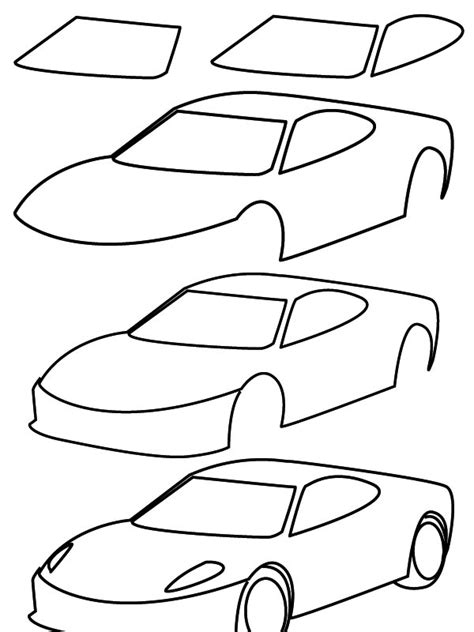 How To Draw A Car Step By Step With Pictures by Drawing Car
