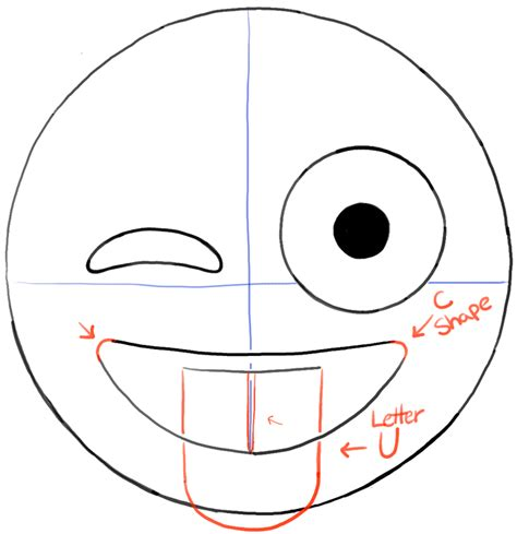 emoji cake template how to draw emojis winking with tongue out drawing tutorial how to draw step by step