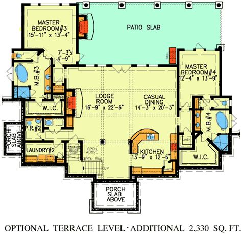 dual master suite home plans dual master suites 15800ge architectural designs