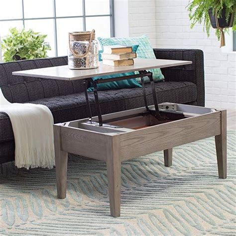 At your doorstep faster than ever. Coffee Tables (Gray) Lift Top Rectangle Wood Cocktail Living Room End Table Side Modern ...