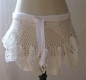 White Crochet Beach Skirt