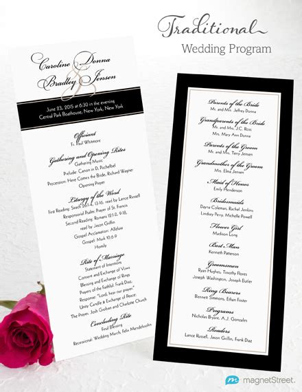 wedding programs trifold wedding program wording magnetstreet weddings