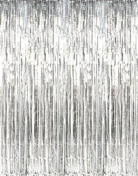 Foil Fringe Curtain Dollar Tree by New Metallic Silver Foil Fringe Curtains 1 Pc Backdrop