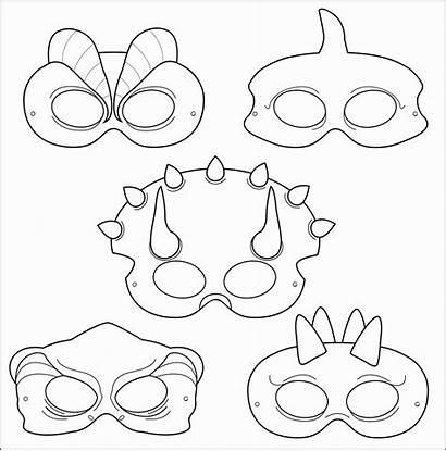 Templates Mask Printable Masks Face Blank Sample