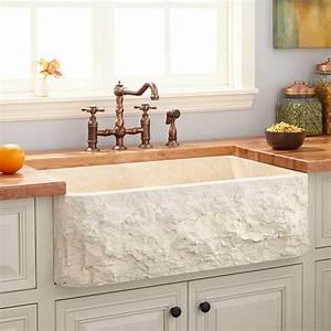 33, U0026quot, Polished, Marble, Farmhouse, Sink, -, Chiseled, Apron, -, Cream, Egyptian