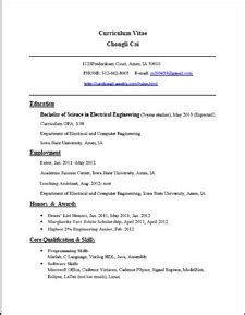 resume chongli cai electrical engineer