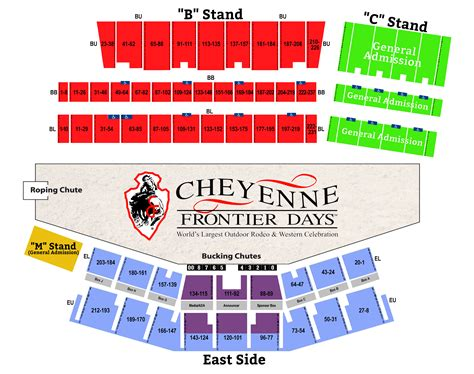 maps seating charts cheyenne frontier days