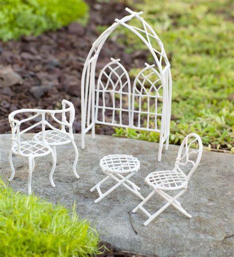 garden white metal furniture 4