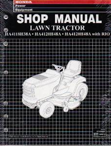 Honda Ha4118 4120 Lawn Tractor Shop Manual