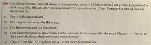 Abbildungsmaßstab Berechnen : d nne sammellinse b g n gegeben ges b g forum physik ~ Themetempest.com Abrechnung