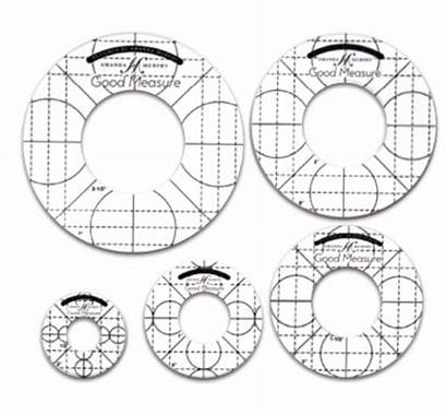 Circle Rulers Templates Quilting Longarm Measure Every