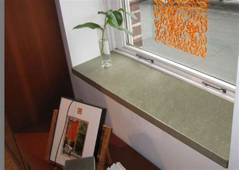 Interior Window Ledge by Concrete Window Sill Seating Side Tables Storage In