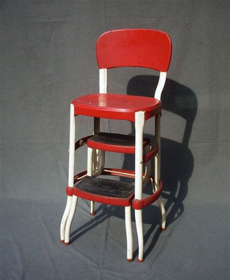 Cosco 11120red1 Retro Chairstep Stool by Vintage Cosco Metal Step Stool Chair Cars We And