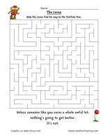 dr seuss the lorax maze worksheet help the lorax find his way to the truffula tree dr seuss