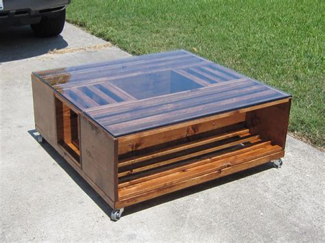 how to make a table l how to make a coffee table out of wooden crates images