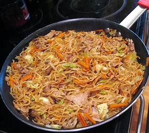 Yakisoba Noodles with Pan Seared Pork Tenderloin, Fresh ...