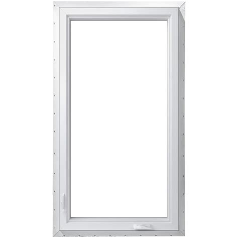 pella  series  lite vinyl  construction egress white exterior casement window rough
