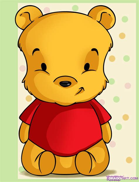 draw baby pooh step  step disney characters