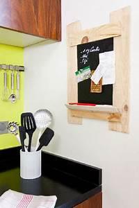 Cagette Bois Deco : tableau ardoise a fabriquer avec cagette pour la cuisine ~ Teatrodelosmanantiales.com Idées de Décoration
