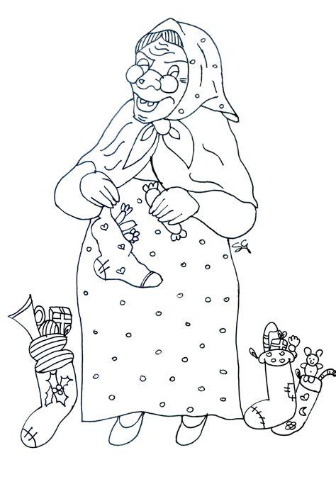 disegni della befana da stampare  colorare gratis