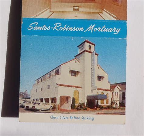 san leandro color 1960s matchbook santos robinson mortuary color photos