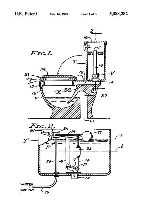 Patent US5388282 - Hydro-pneumatic flush system for