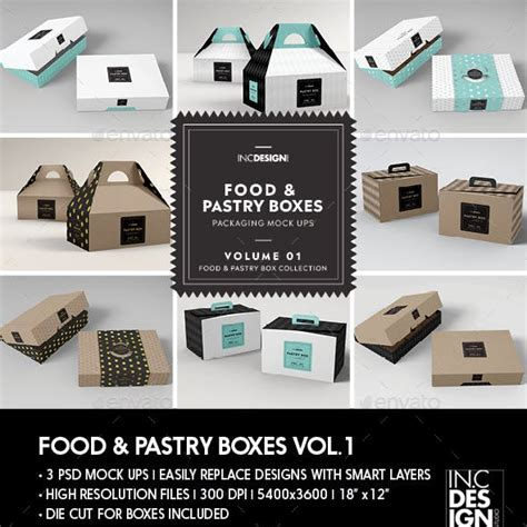 Food and pastry mock up bundle 1. 50+ Best Cake Packaging Mockup Templates | Free & Premium