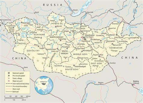 mongolia map ulaanbaatar