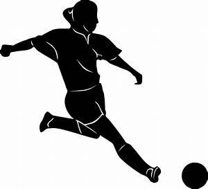 Girls Soccer Balls Clipart