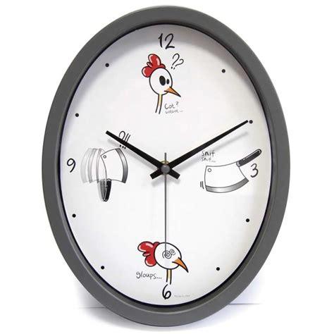 pendule de cuisine originale horloge cuisine quot ludik quot grise