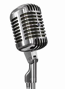Vintage Microphone and Stand transparent PNG - StickPNG