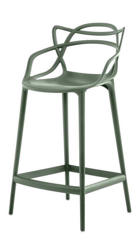 chaise de bar 65 cm chaise de bar masters h 65 cm polypropylène vert sauge