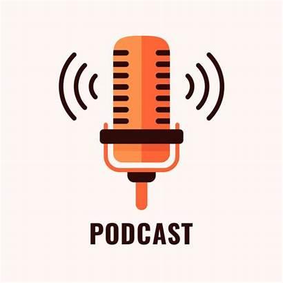 Podcast Audio Vector Logotype Illustration Streaming Clip
