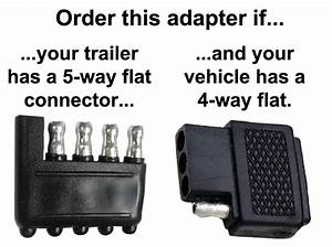 4-way Flat To 5-way Flat Connector Adapter