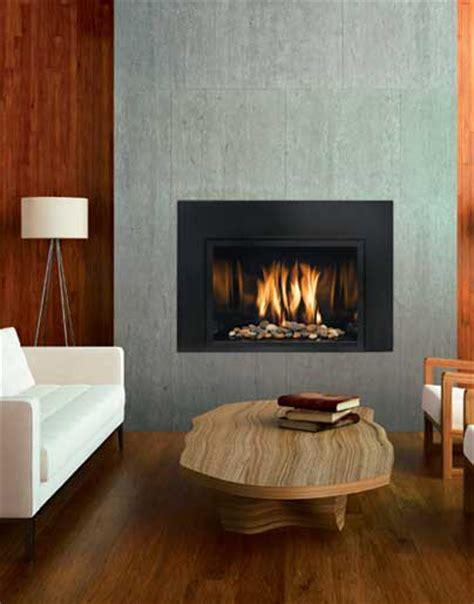 modern gas fireplace inserts mendota fullview modern gas insert the fireplace club