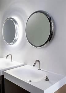 miroir salle de bain lumineux en 55 designs super modernes With miroir salle de bain lumineux rond
