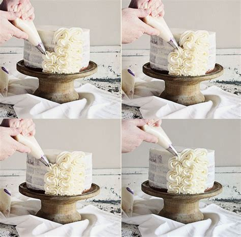 frilly cake decorating full tutorial  iambakernet