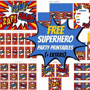Free Superhero Party Printables + extras! – Free Party