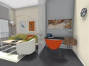 Roomsketcher Home Office Idea Curtain Room Divider Buy Home Office Secretary Desk Furniture