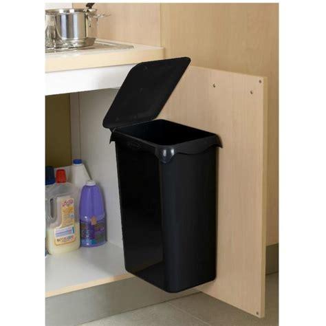 poubelle de porte de cuisine poubelle de placard portasac 23 l noir achat vente