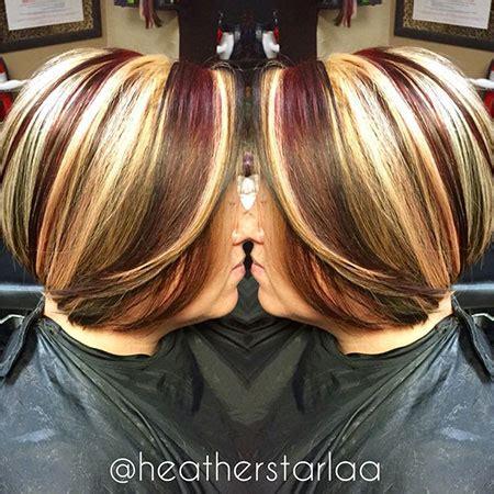short red hair  blonde highlights short