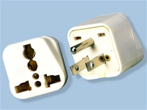 north american style grounded universal plug adapter ss